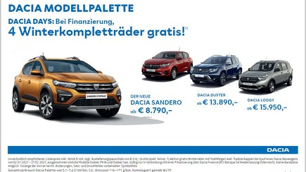 Dacia Modellpalette